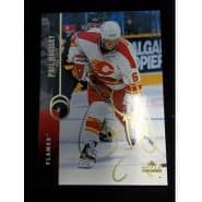 Signed Housley Phil Calgary Flames Upper Deck Hockey Card autographed