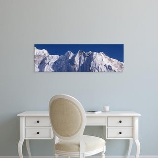 Easy Art Prints Panoramic Images's 'Mountains Everest National Park Nepal' Premium Canvas Art