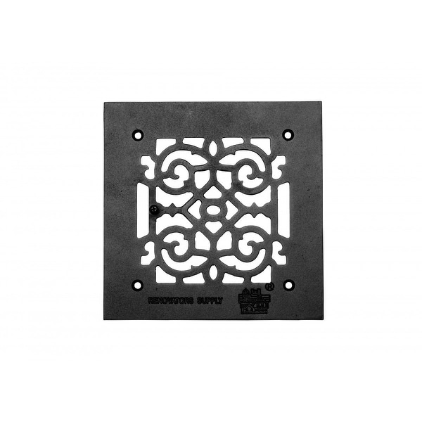 Heat Air Grille Cast Victorian Overall 8 x 8