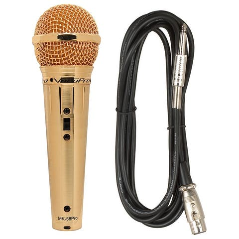 Gold Finish Best Sounding Professional Vocal Microphone
