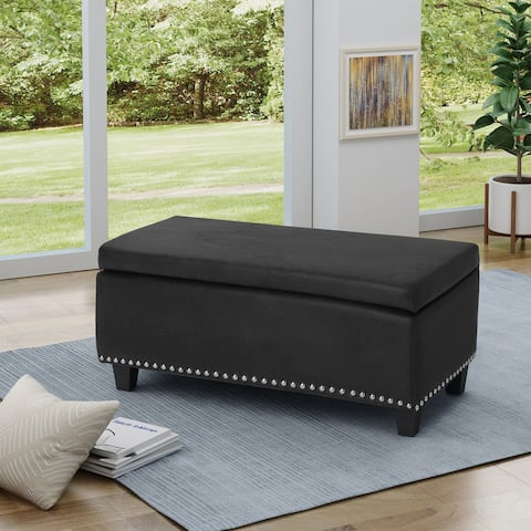 Caren Traditional Storage Ottoman by Christopher Knight Home