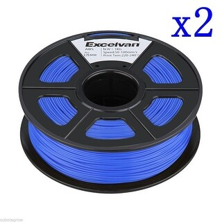 2x 3D Printer Filament 1.75mm ABS for Print RepRap MarkerBot 1kg/2.2lbs Blue