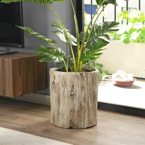 FirsTime & Co. Beige Carrigan Log Outdoor Planter - 14 x 15 x 16.5 in