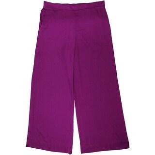 Lauren Ralph Lauren Womens Casual Pants Wide Leg Flat Front