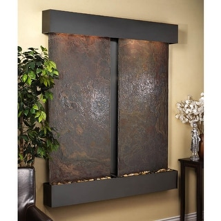 Cottonwood Falls Fountain - Blackened Copper - Squared Edges - Choose Options - Multi|Multi