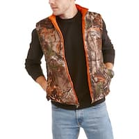 Men's Realtree Water Resistant Reversible Poly Puff Vest Camouflage