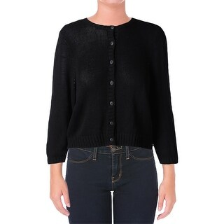 Lauren Ralph Lauren Womens Cardigan Sweater Knit Crop