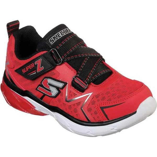 79f6dffde1d7 Shop Skechers Boys  Thermoflux Z Strap Sneaker Red Black - Free ...