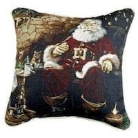 "Santa's Treats Decorative Christmas Throw Pillow 17"" x 17"" - RED"