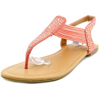 Happy Soda Lorri Open Toe Canvas Thong Sandal