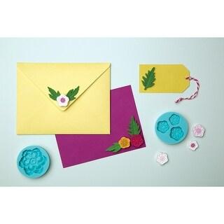 Martha Stewart Crafter's Clay Silicone Molds 4/Pkg-Cheerful Flower