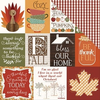 """Autumn Orchard Double-Sided Cardstock 12""""X12""""-Thankful"""