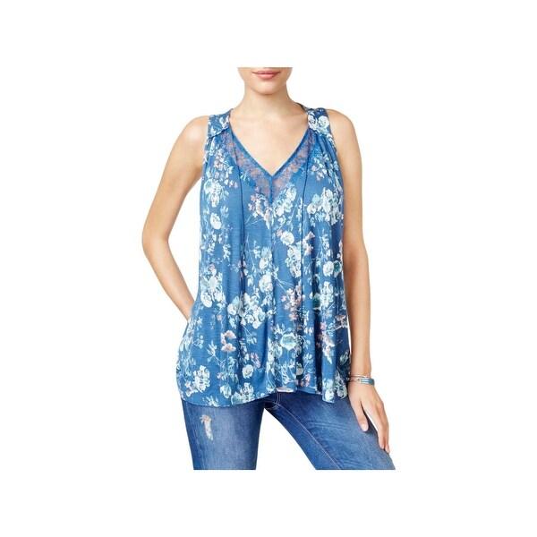 e398e85ef4a83 Shop Lucky Brand Womens Tank Top Knit Floral Print - Free Shipping ...