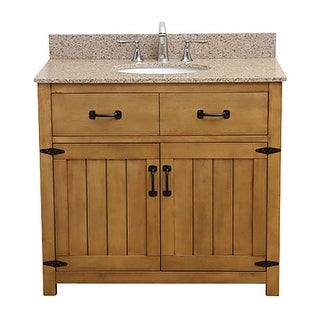 "DecoLav 5232-36 Countryside 37"" Freestanding Vanity Set with Birch Cabinet and G"