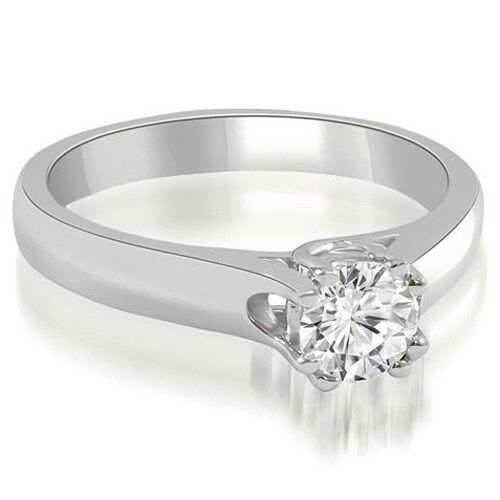 0.50 cttw. 14K White Gold Lucida Round Cut Solitaire Diamond Engagement Ring
