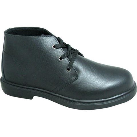 Genuine Grip Footwear Men's Chukka Black Leather