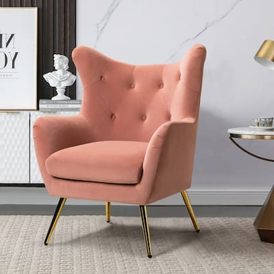 Lara Tufted Wingback Accent Chair