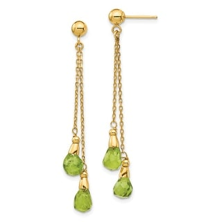 Link to 14K Yellow Gold Peridot Dangle Earrings by Versil Similar Items in Earrings