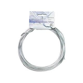 Dazzle It Aluminum Wire 12ga 30ft Rnd Silver
