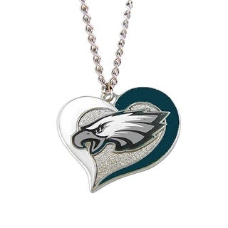 Philadelphia Eagles NFL Swirl Heart Necklace
