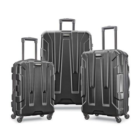 Samsonite Centric 3 Piece Expandable Hardside Spinner Luggage Set, Black
