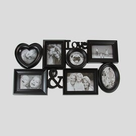"26.5"" Black Multi-Sized ""Love &"" Photo Picture Frame Collage Wall Decoration"