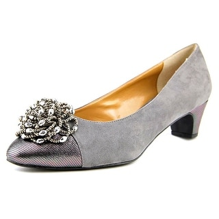 J. Renee Rashana Round Toe Canvas Heels