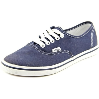 Vans Authentic Lo Pro Women Round Toe Canvas Blue Sneakers