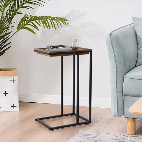 Sophia & William C-shaped Side Table with Removable Tray Top