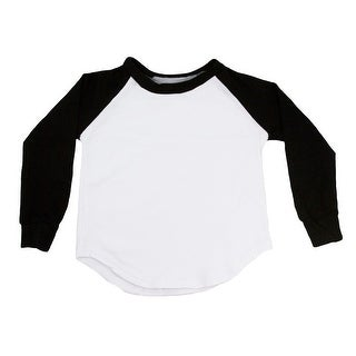 Unisex Baby Black Two Tone Long Sleeve Raglan Baseball T-Shirt