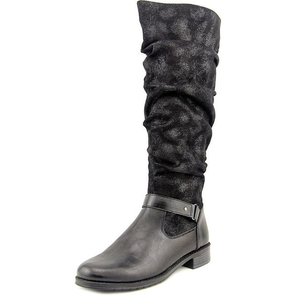 A2 By Aerosoles Ride With Me Women Round Toe Synthetic Black Knee High Boot