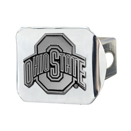 "Ohio State Buckeyes NCAA 2"" Chrome Metal Tow Hitch Receiver Cover 3D Design"