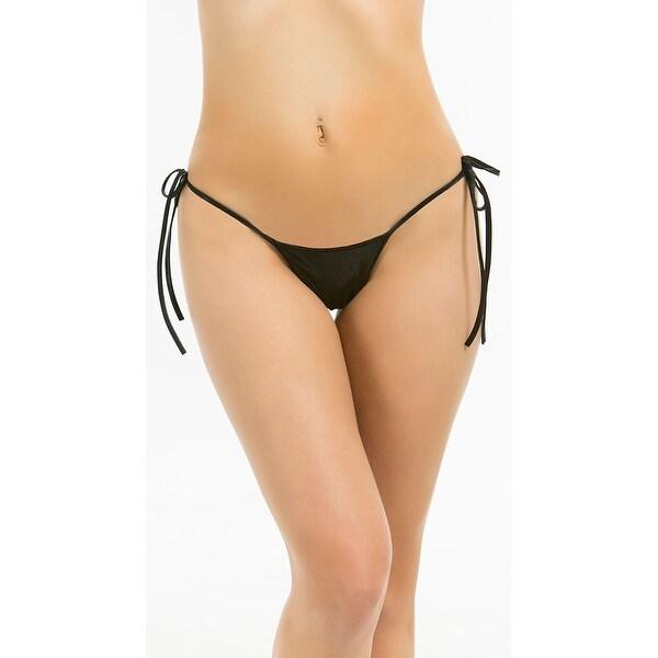 f37074f3edd Shop Metallic Tie Side Scrunch Bottom, Side Tie Bikini Bottom ...