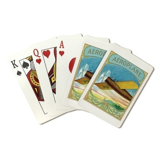Aeroplane Brand Cigar - Vintage Label (Playing Card Deck - 52 Card Poker Size with Jokers)
