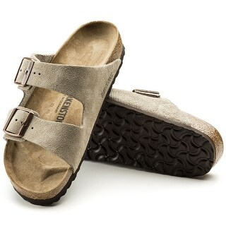 Birkenstock Mens Arizona Leather Slip On Open Toe Slides - 11