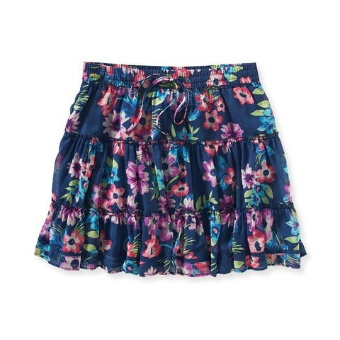 Aeropostale Womens Sheer Floral Mini Skirt