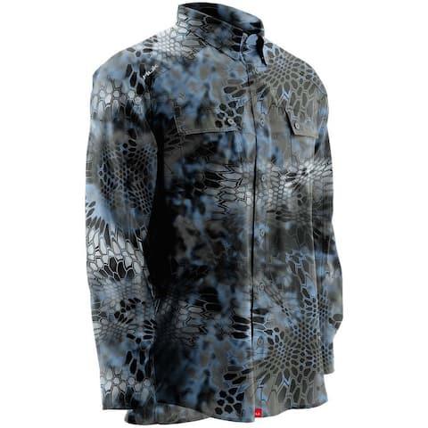Huk Men's Next Level Kryptek Neptune Medium Button Up Long Sleeve Shirt