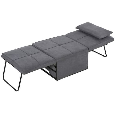 HOMCOM 4 in 1 Multi Function Sofa Bed Adjustable Backrest Sleeper Lounger Convertible Chair