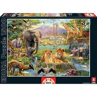African Watering Hole 1500 Piece Puzzle