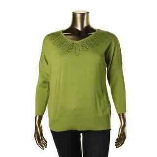 Sag Harbor Womens KNit Dolman Sleeves Pullover Sweater - S