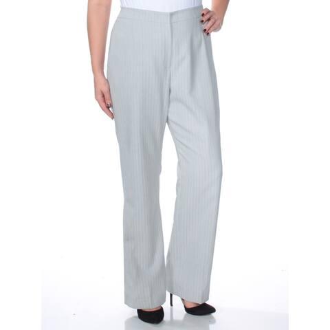 LE SUIT Gray Straight leg Pants Size 12