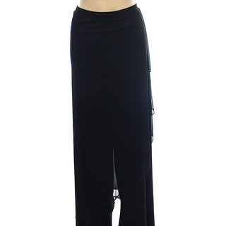 Onyx Nite NEW Black Women's Size XL Sheer Illusion Layered Dress Pants