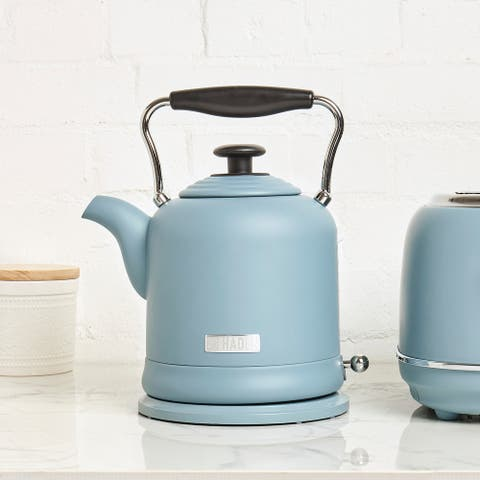 Haden Highclere 1.5 -Liter (6 Cup) Cordless, Electric Kettle in Pool Blue