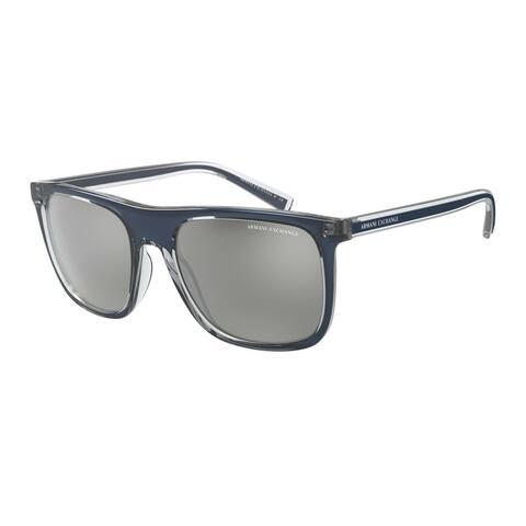 Armani Exchange AX4102S 83206G 56 Shiny Blue Man Square Sunglasses