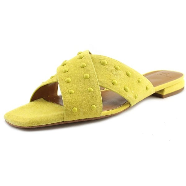82471ab61f2b8 Shop H by Halston Nora Women Open Toe Leather Yellow Slides Sandal ...
