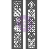 """Prima Re-Design Decor Stencil 2/Pkg 8""""X26.375""""-Morocco"""
