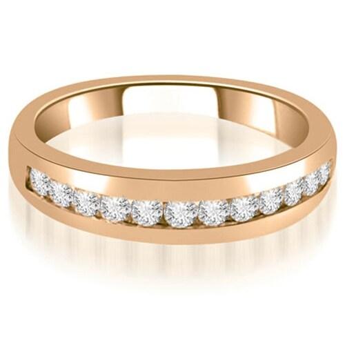 0.36 cttw. 14K Rose Gold Channel Set Round Cut Diamond Wedding Band