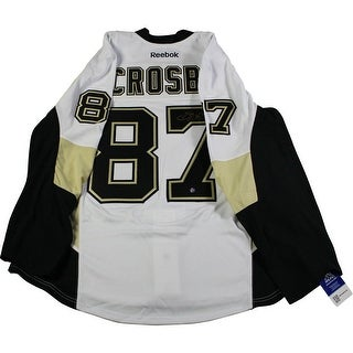 Sidney Crosby Pro Penguins White and Vegas Gold Jersey