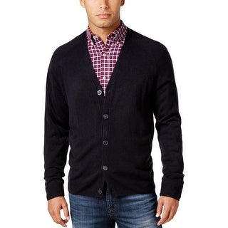 Weatherproof Mens Cardigan Sweater Marled Button Front