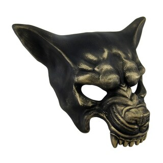 Snarling Wolf Metallic Half Face Mask (3 options available)